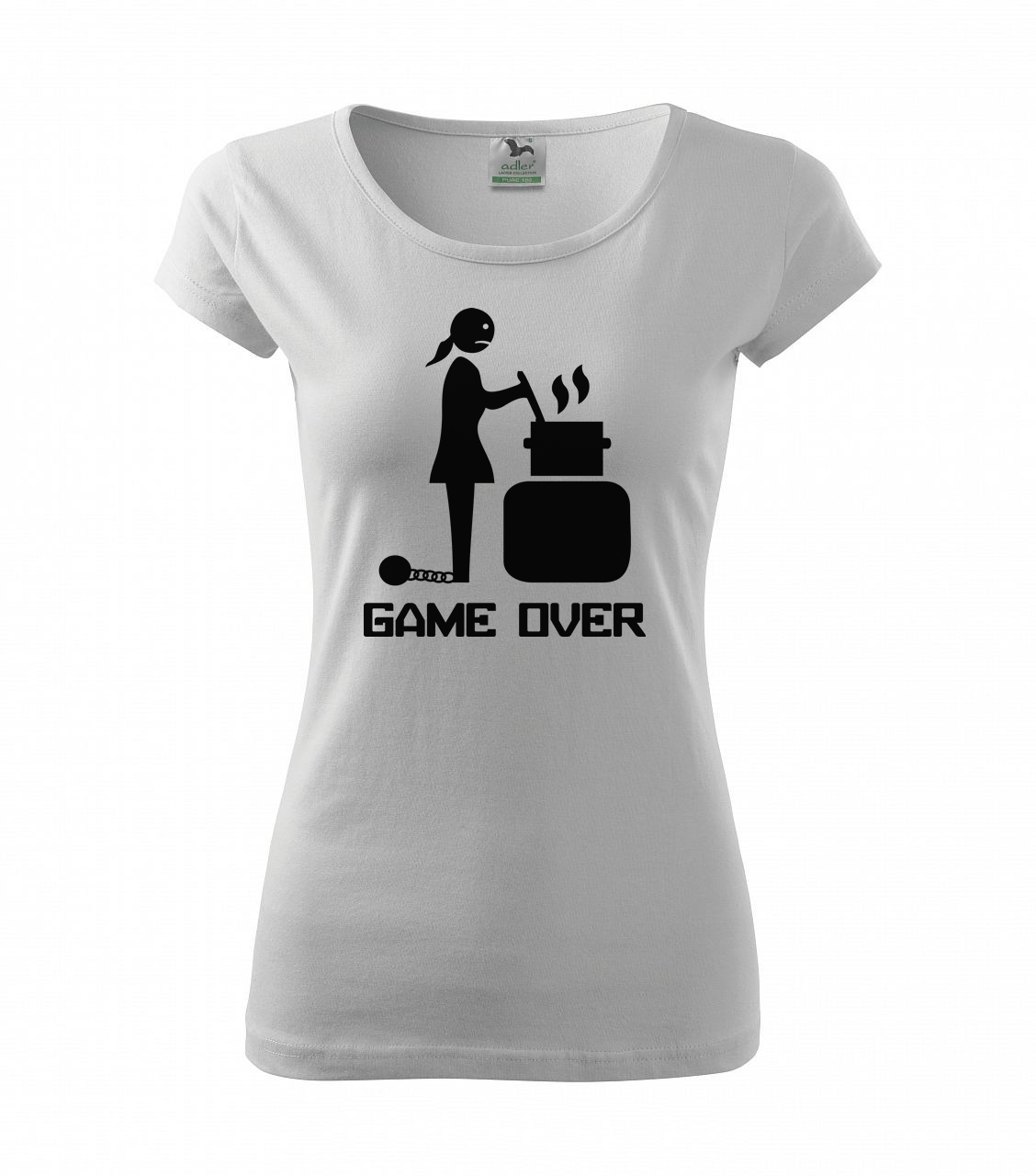 af9d8436b404 Dámské tričko Game over – Na Rozlučku